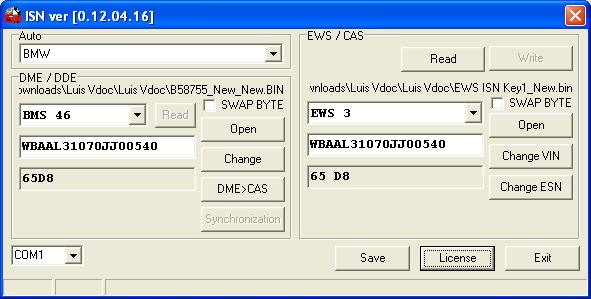Bmw/mini/rover isn synchronisation software dme dde ews cas + | ebay.