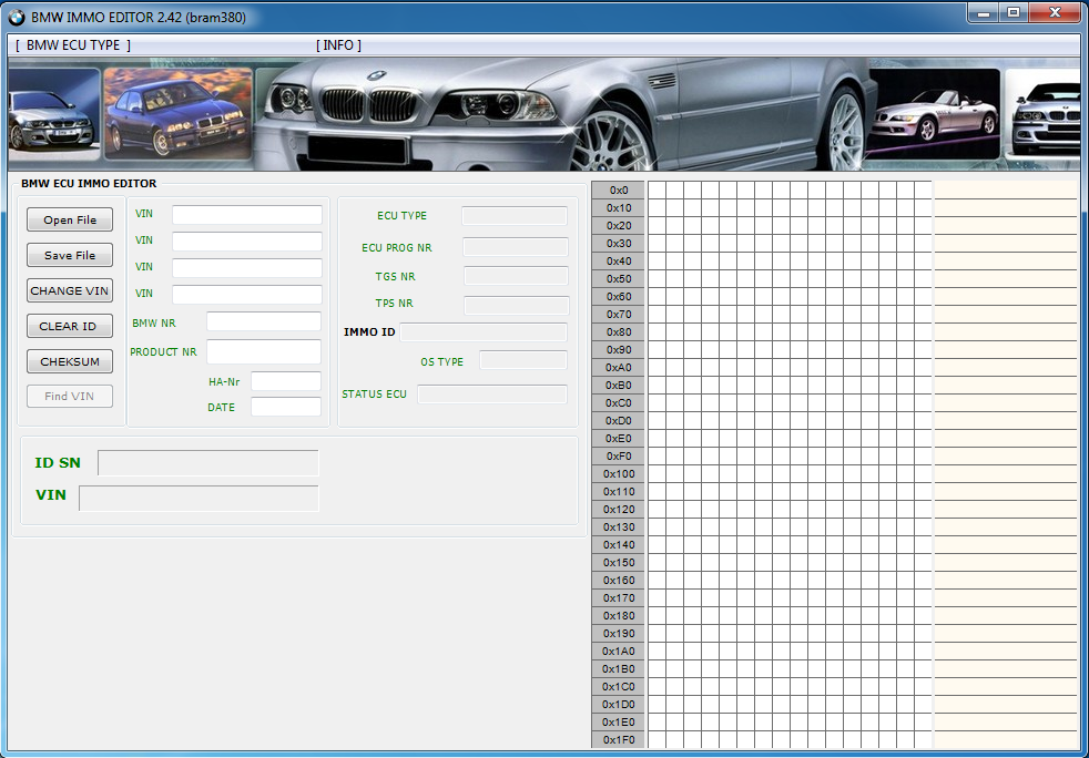 BMW IMMO EDITOR v2 42, DME DDE Password Extractor, Vin to Hex