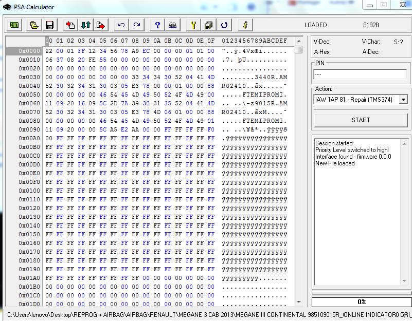 Psa calculator for peugeot citroen pin programmer kill immo pin.