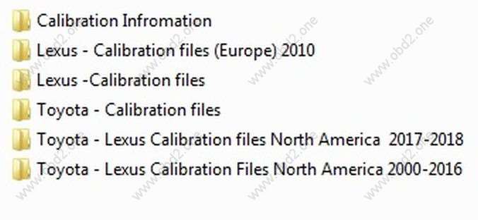 Toyota lexus calibration files