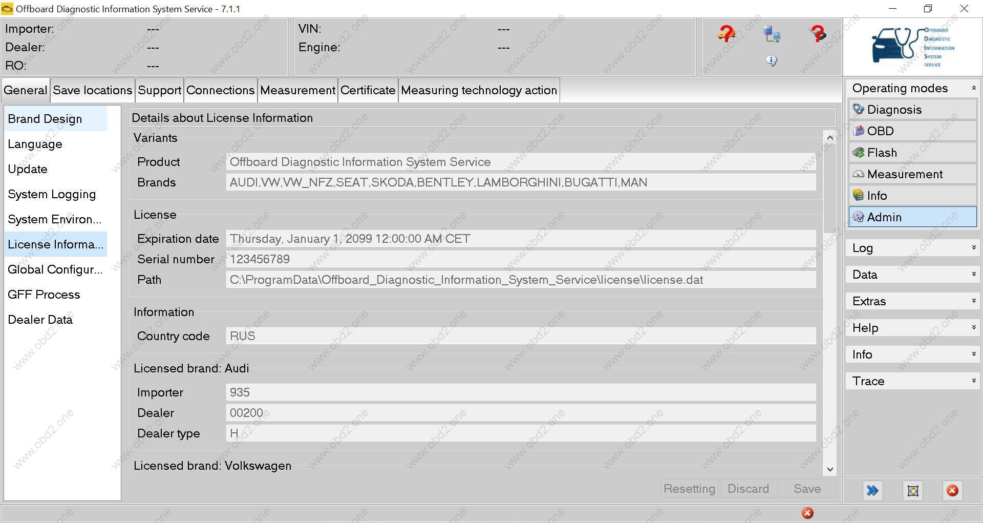 odis s 7.1.1 license