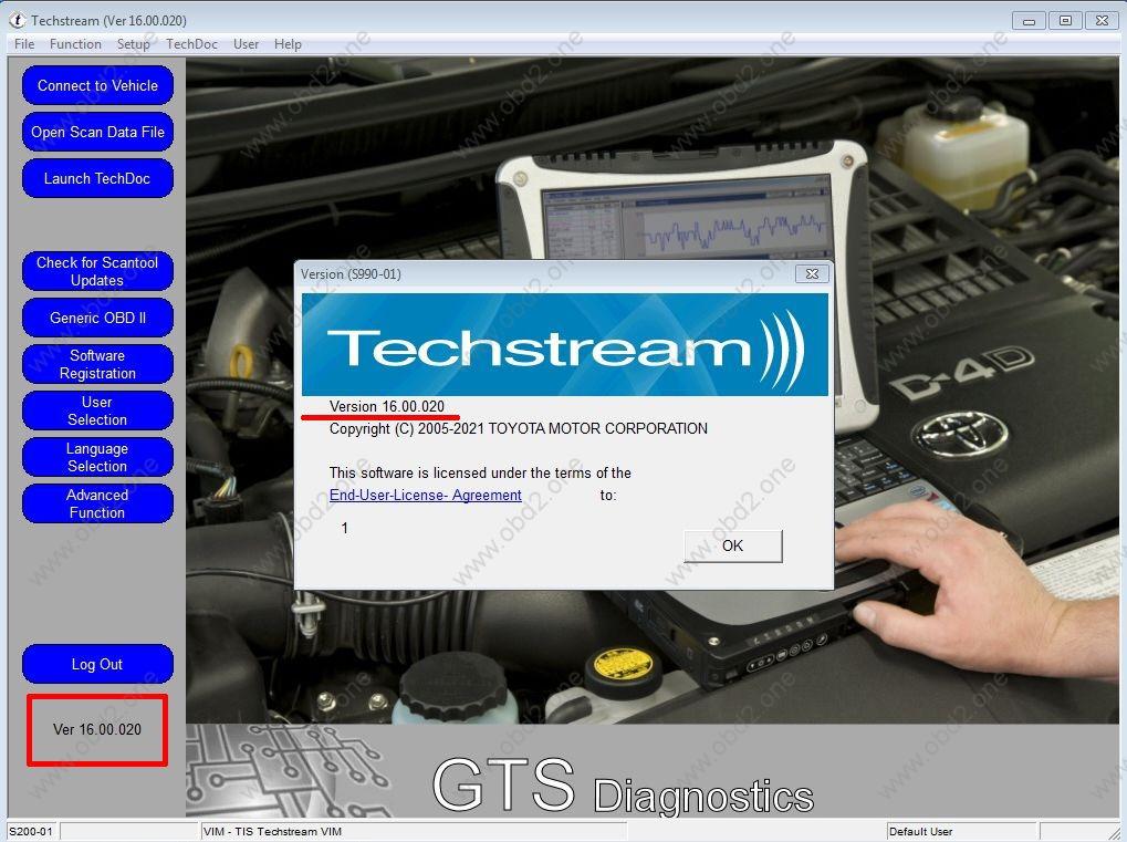 toyota techstream 16.00.020
